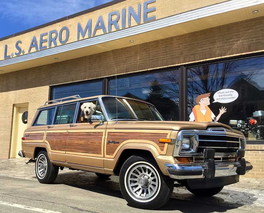 Driving by the L.S. Aero Marine in Bemus Point
